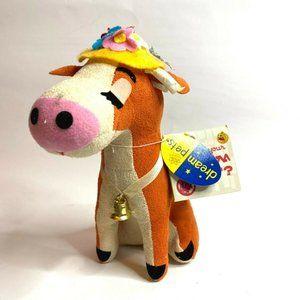 "VINTAGE R.DAKIN DREAM PETS ""Clarabelle"" Cow with T"